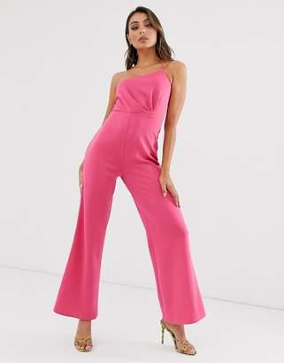 Laced In Love Laced in Love wide leg scuba jumpsuit in pink