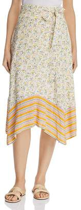 Lost and Wander Lost + Wander Marilyn Mixed-Print Floral Midi Skirt