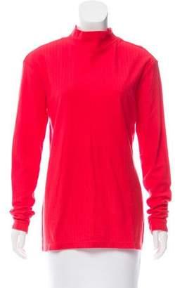 Bianca Chandon Long Sleeve Mock Neck T-Shirt w/ Tags