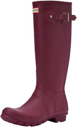 Hunter Boots Women's Original Tall Classic Rain Boot Dk Slate
