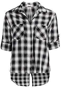 Bella Dahl Women's Check Split-Back Shirt