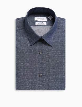 Calvin Klein steel slim fit dots dress shirt