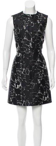 Balenciaga Balenciaga Jacquard Sheath Dress