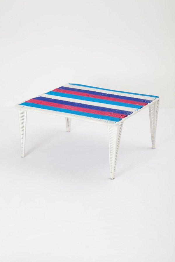 Anthropologie Handwoven Lita Table, Short