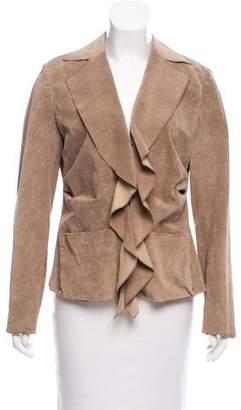 Yansi Fugel Suede Zip-Up Jacket