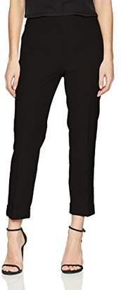 Adrianna Papell Women's Cuff Bottom bi Stretch Pant