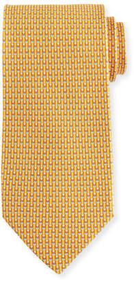 Salvatore Ferragamo Fina Graphic Silk Tie