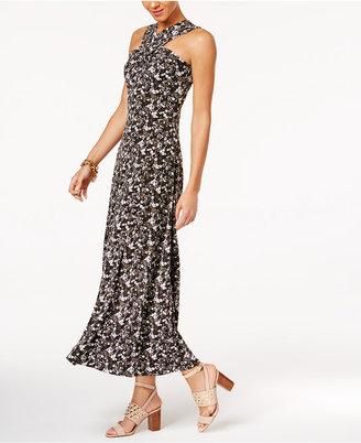 MICHAEL Michael Kors Cross-Neck Maxi Dress $125 thestylecure.com