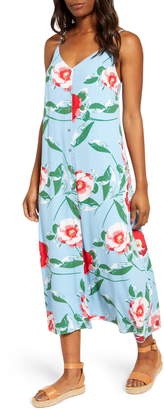 Gibson x The Motherchic Al Fresco Strappy Button Up Midi Sundress
