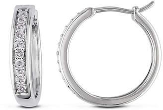 FINE JEWELRY 1/3 CT. T.W. Diamond Sterling Silver Hoop Clip Earrings