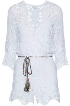 Miguelina Cotton Guipure Lace Playsuit