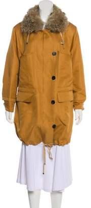 3.1 Phillip Lim Fur-Trimmed Short Coat