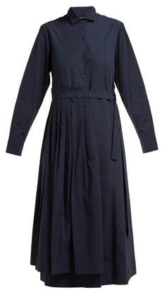 Max Mara Flou Shirtdress - Womens - Navy