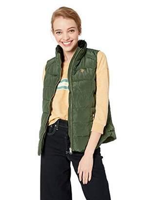 U.S. Polo Assn. Women's Faux Fur Collar Vest,L
