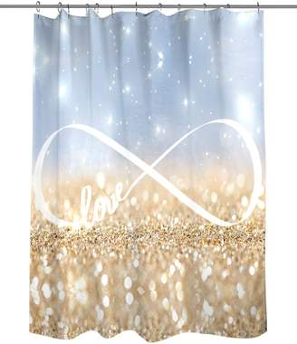 Oliver Gal Infinite Love Sign Shower Curtain