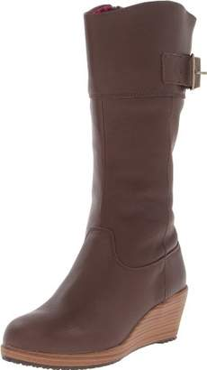 Crocs A-leigh Leather Boot, Women Boot,(6 US)