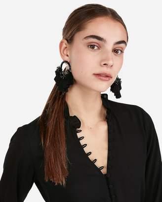 Express Bead Tassel Drop Earrings