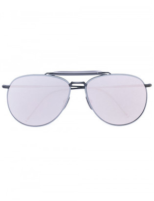 Thom Browne mirror aviator sunglasses $700 thestylecure.com