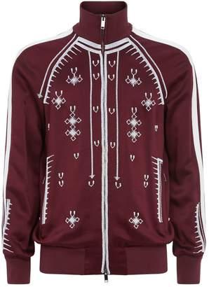 Valentino Bead Embellished Satin Jacket
