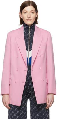 Stella McCartney Pink Wool Twill Tailoring Blazer