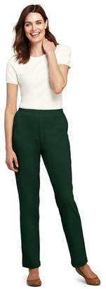 Lands' End - Green Petite Sport Knit Trousers
