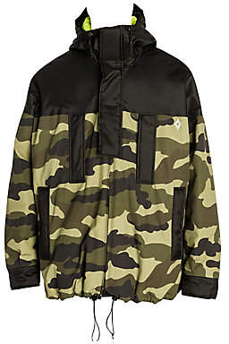 Marcelo Burlon County of Milan Men's Neon-Lined Hooded Camo Jacket
