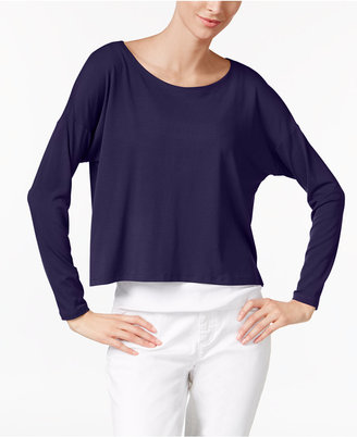 Eileen Fisher Jersey Scoop-Neck Boxy Top, Regular & Petite $98 thestylecure.com