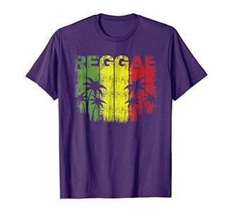 Reggae Red Green and Gold Jamaican T-Shirt