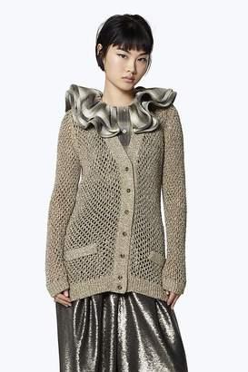 Marc Jacobs Metallic Wool-Blend Cardigan