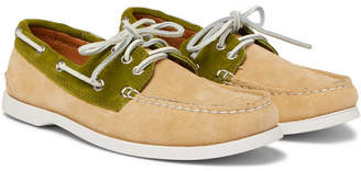 Quoddy Downeast Two-Tone Suede Boat Shoes