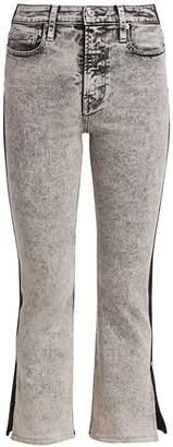 Proenza Schouler Pswl Colorblock Split Kick Flare Jeans