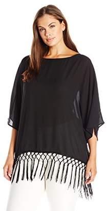 Single Dress Women's Plus Size Fringe Top $82.79 thestylecure.com
