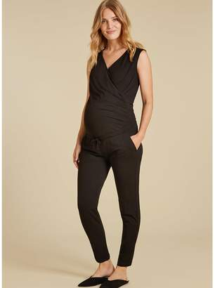 Isabella Oliver Zoey Maternity Jumpsuit-Caviar Black