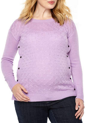 PLANET MOTHERHOOD Planet Motherhood Cable Stach Nursing Friendly Sweater - Maternity