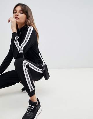 Karl Lagerfeld logo zip through jumpsuit