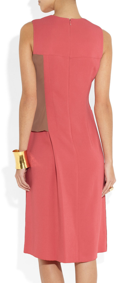 Reed Krakoff Stretch-crepe and sateen dress