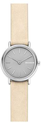 Skagen Signature Slim Leather Strap Watch, 30mm