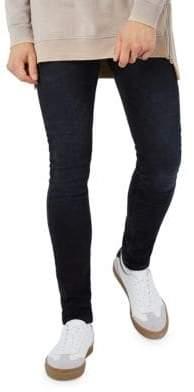 Topman Washed Stretch Skinny Jeans