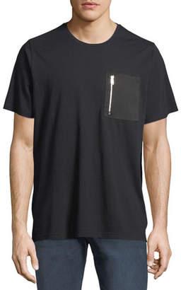 Ovadia & Sons Zip-Pock Cotton T-Shirt, Black