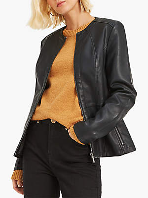 c21ec9fd1 Tag Womens Black Collarless Leather Jacket Uk — waldon.protese-de ...