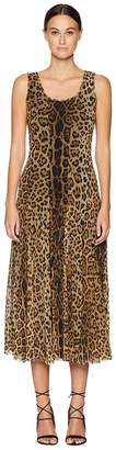 Fuzzi Long Tank Dress in Animal Print Women's Dress