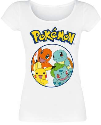 Pokemon T Shirt Characters Pikachu squirtle new Official Womens Skinny Fit