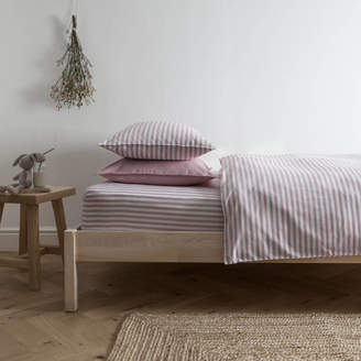 Harriet Hare Ticking Stripe Rose Pink Duvet Cover