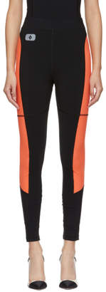 Alexander Wang Black and Orange Swim Jersey Leggings