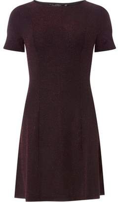 Dorothy Perkins Womens Pink Glitter Fit and Flare Dress
