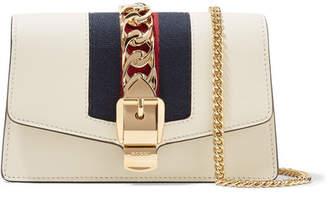 Gucci Sylvie Mini Chain-embellished Leather Shoulder Bag - Ivory