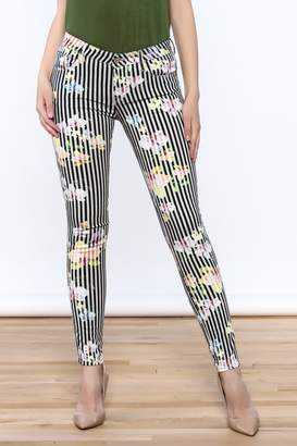 Cult of Individuality Zen Floral Skinny Pants