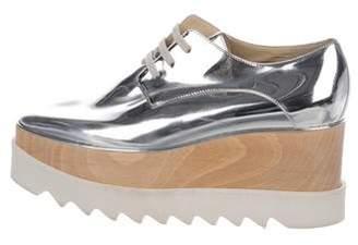 Stella McCartney Vegan Patent Leather Platform Oxfords