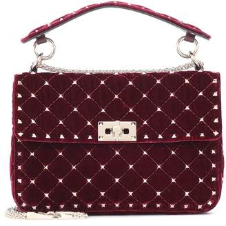 Valentino Rockstud Spike velvet shoulder bag