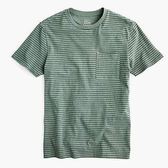 J.Crew Garment-dyed T-shirt in green stripe